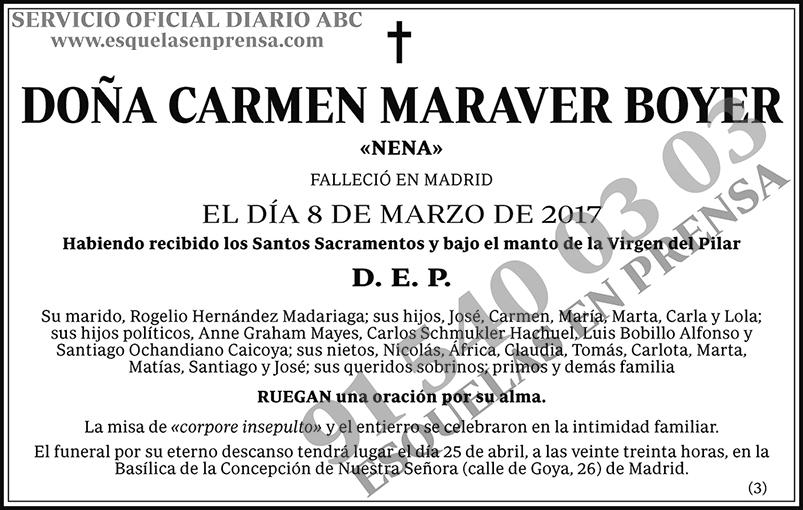 Carmen Maraver Boyer